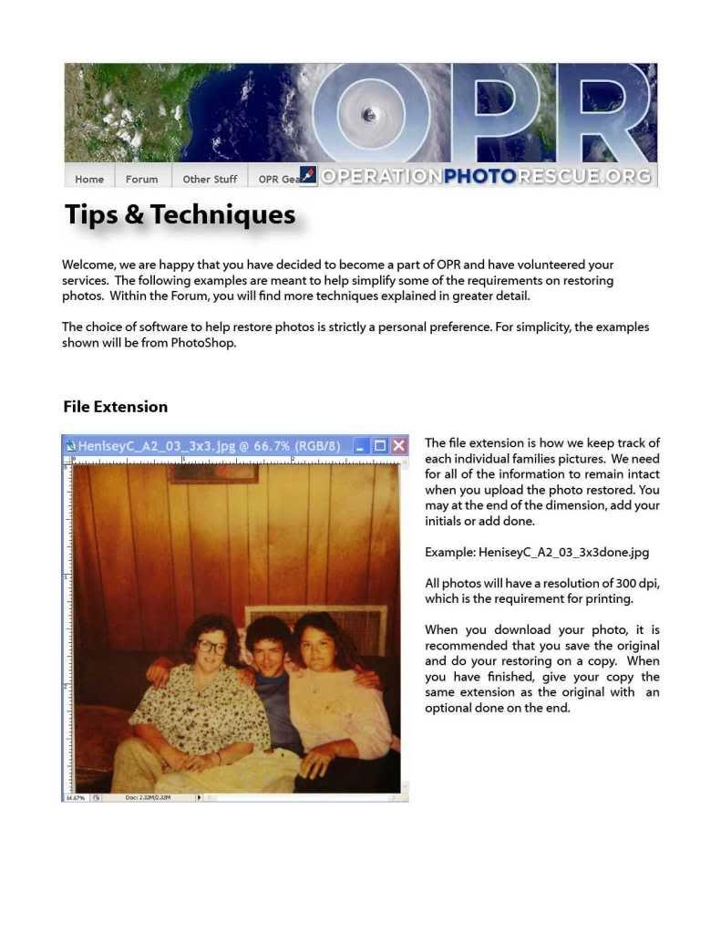 The Handbook. Photo restoration, Photo, Techniques
