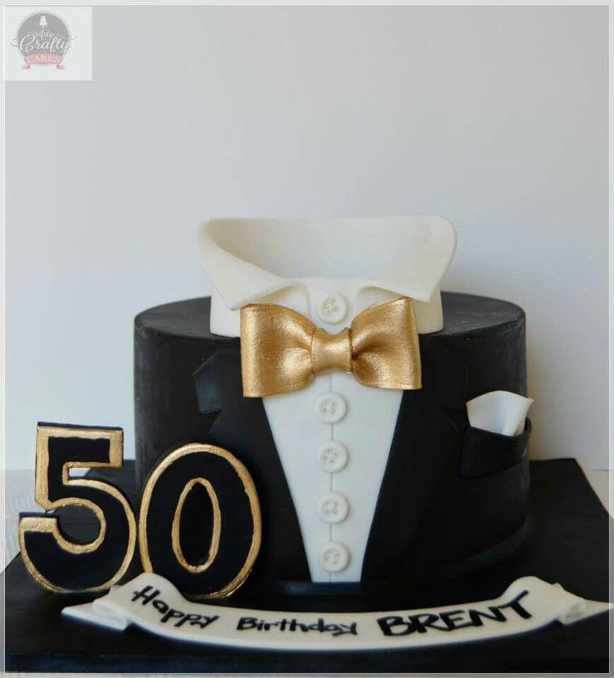 Admirable Black And Gold Tuxedo Cake Ideas Birthday Cake For Him Black Personalised Birthday Cards Akebfashionlily Jamesorg