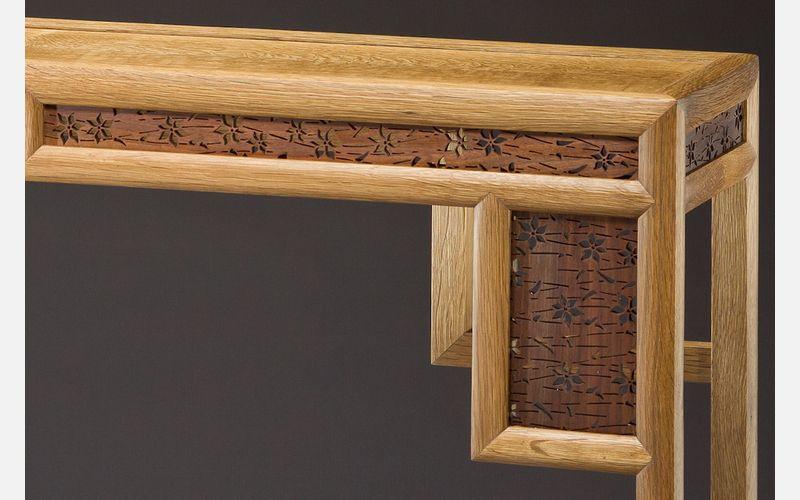 Custom Inlaid Parquetry Furniture Maine Maker Brian Reid
