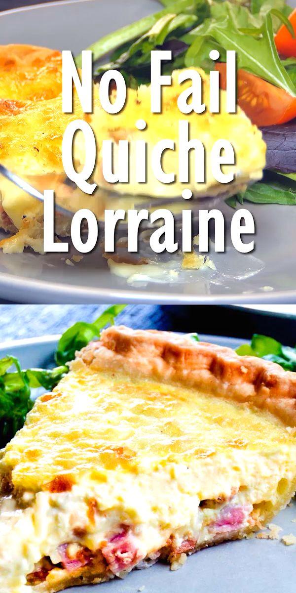 No Fail Quiche Lorraine Video Breakfast Quiche Recipes Lorraine Recipes Quiche Recipes Easy