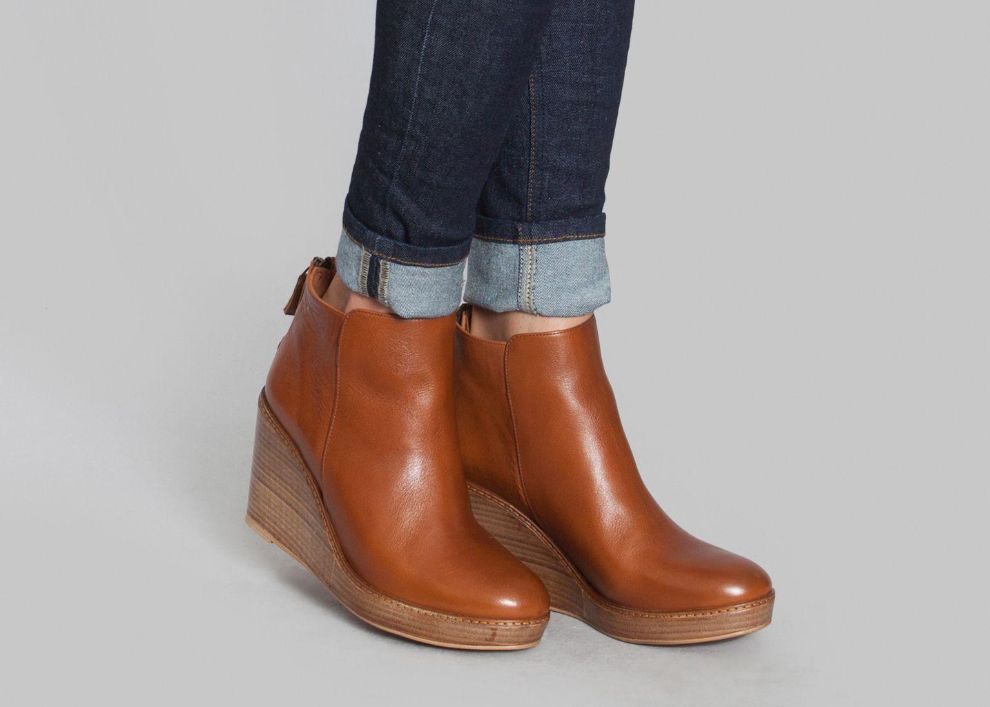 Boots Compensées Bianca | Fringues | Bottines compensées