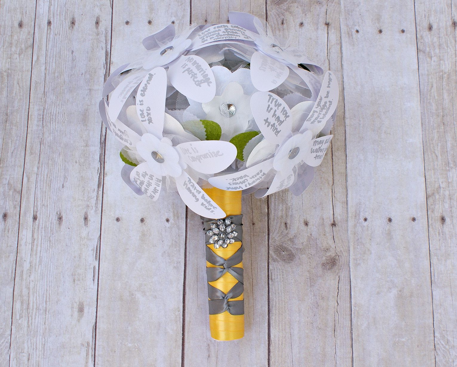 DIY Rehearsal Bouquet Of Wishes. This Replaces The Ribbon