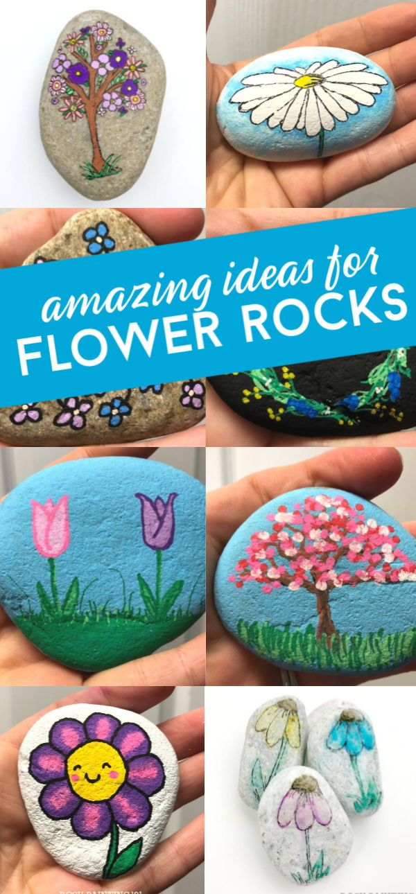 11 Easy Flower Rocks That Will Make People Smile Rock Painting 101 Easy Flower Painting Painted Rocks Rock Painting Ideas Easy