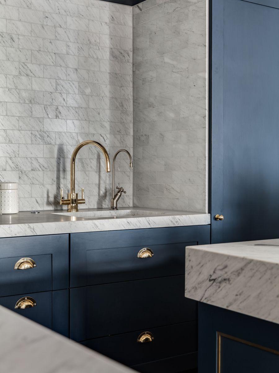 Bespoke Kitchen, Gold Tap, Marble Kitchen, Kitchen Tile, Grey ...