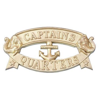 Photo of Handcrafted Nautical Decor 'Captain and Apos's Quarters Sign' Wall Decor | Wayfair