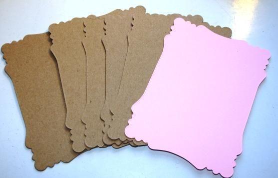 Pink MED Victorian mini chipboard Scrapbook album kit Free Digi Fairies Collage