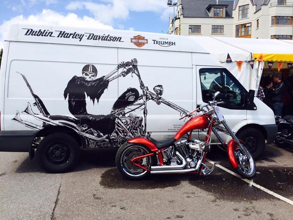 the killarney ireland bike fest at dublin harley davidson that