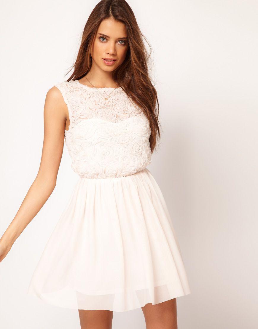 Skater Dress With Rose Mesh | Pinterest | Shower dresses, Bridal ...