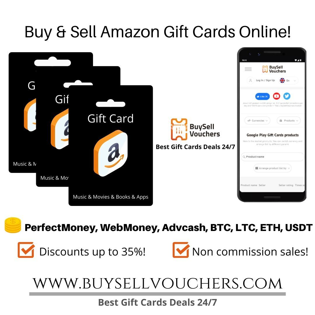 Buy Amazon Gift Cards With Perfect Money Bitcoin Webmoney And Other E Currencies Amazon Gift Cards Gift Card Deals Best Gift Cards