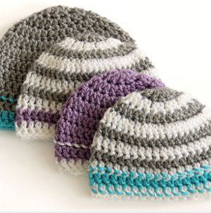 Striped Easy Beanie Crochet Pattern