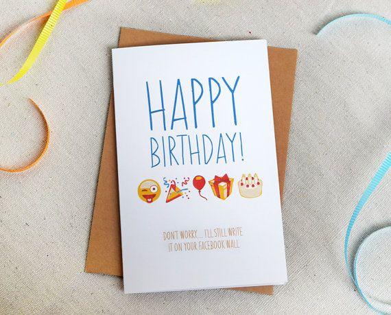 Funny Birthday Card For Anyone Write On Facebook Wall Emoji User