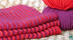 Ein Loop In 2farbigem Patentun Snood Au Point Brioche Bicolore