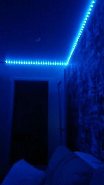 Led Strip Lights In 2020 Led Lighting Bedroom Room Makeover Inspiration Led Room Lighting