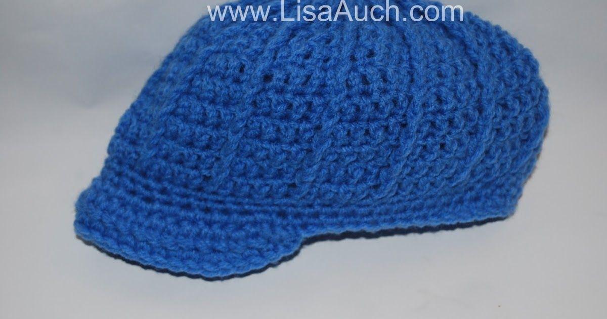Free Crochet newsboy Hat Pattern {Newborn-3 months} | Free Crochet ...