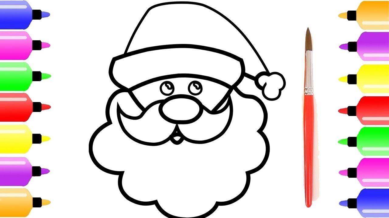 Menggambar Santa Claus Dan Halaman Mewarnai Untuk Anak Anak