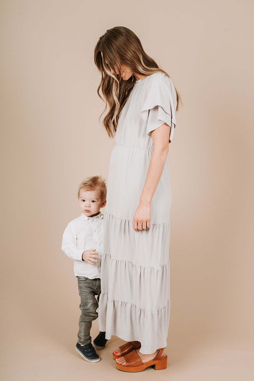 c65d37a78a1e The Kelsey Tiered Maxi Dress in Grey in 2019 | Piper and Scoot ...