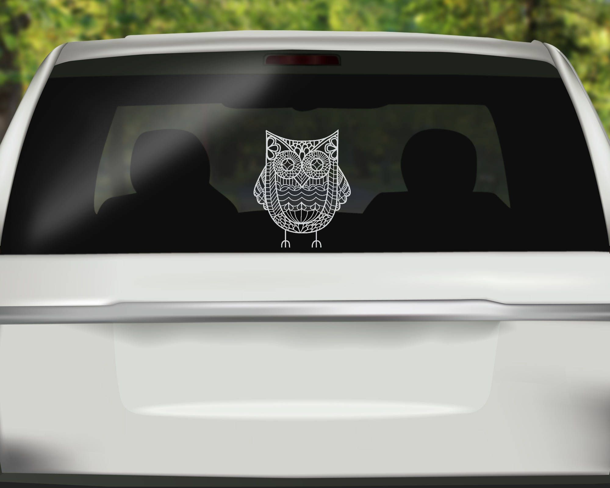 1dc64a7d2 Owl Zentangle Decal - Owl Car Decal - Mandala Sticker - Zentangle Sticker - Bird  Bumper sticker - Vinyl Decal - Car Stickers by SpencerVinyl on Etsy