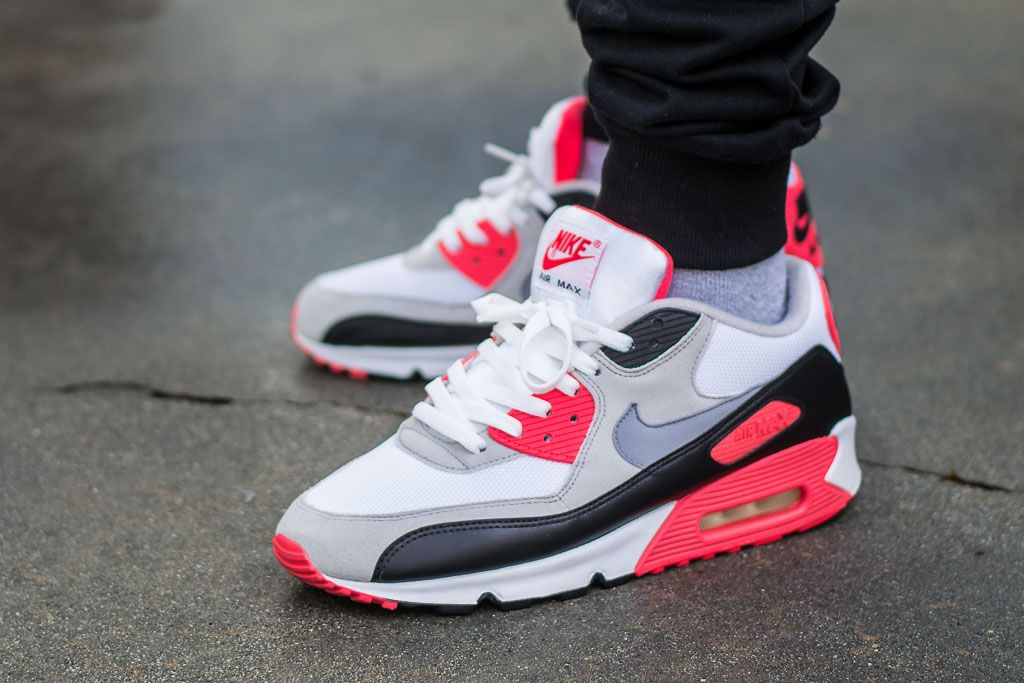 temperament shoes on feet images of new products Nike Air Max 90 Infrared (2010) On Feet Sneaker Review ...