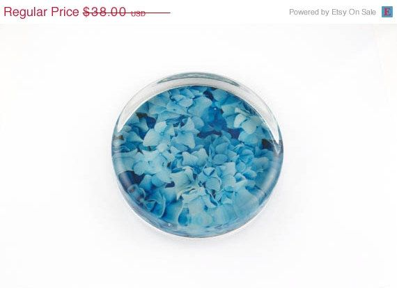 Hydrangea Paperweight Blue Hamptons Hydrangea by EastEndLight