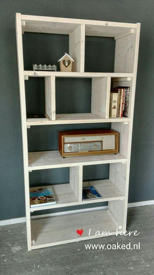 Boekenkast steigerhout, in plaats van de bekende ikea billy ...