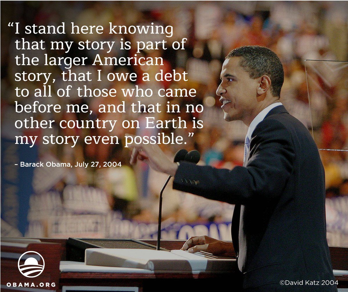 barack obama convention speech 2004