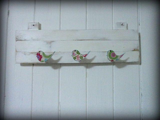 Percheros con maderas recicladas vintage perchero - Percheros pared vintage ...