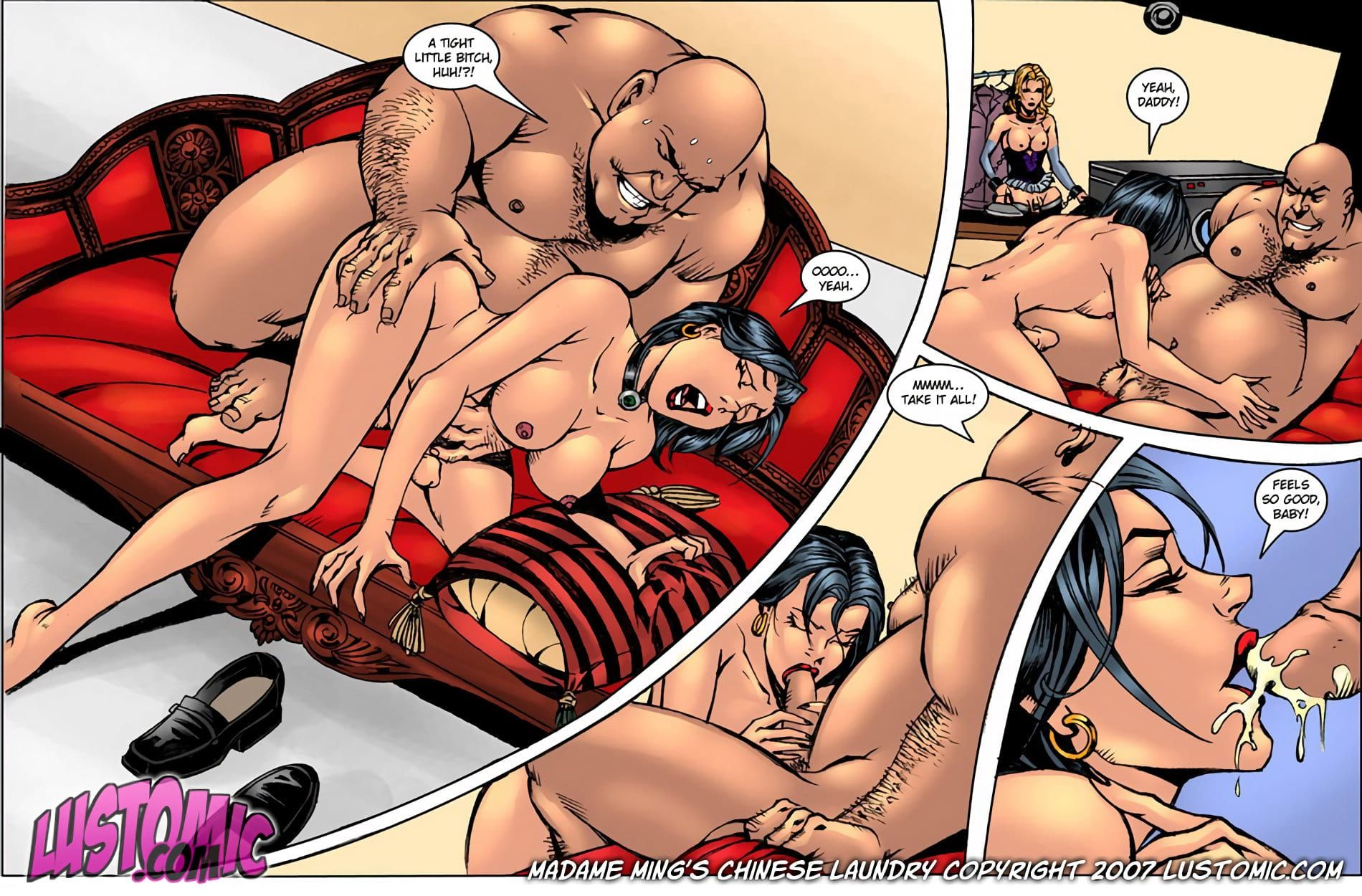 Asian Porn Comic - See Porn Comics Lustomic-Madame Ming's Chinese Laundry completely free and  full colors.