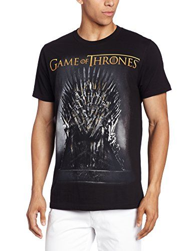 MEN/'S winter is coming game of thrones loose fit t shirt black tv large L