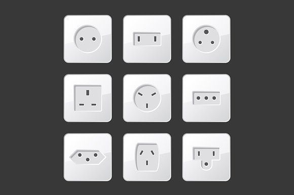 Electric Outlet Sockets Set @creativework247