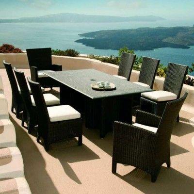 Savannah Woven Dining Set | #outdoordining #outdoorseating  #outdoorfurniture | By Http:/. Patio SetsGarden FurnitureWicker ...