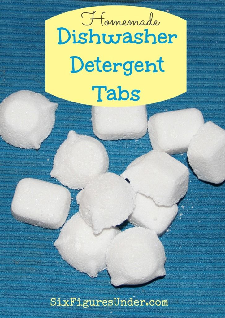 DIY Dishwasing Detergent Tabs  ~~ At $.05 per tab, making homemade dishwasher detergent tabs not only saves us money, but it saves us from the toxic chemicals in commercial dishwashing soaps.