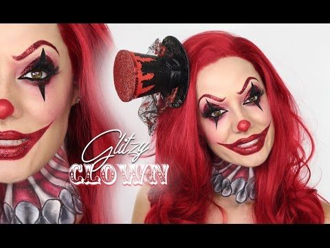 Looking For Last Minute Halloween Makeup Ideas Look No Further These Fabulously Easy Tutorials Are Perfect Fo Scary Clown Makeup Halloween Clown Scary Clowns