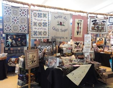 Auntie Ju's Quilt Shoppe - hand-dyed wools, Moda fabrics, punchneedle - see our show schedule, we might be near you this fall!