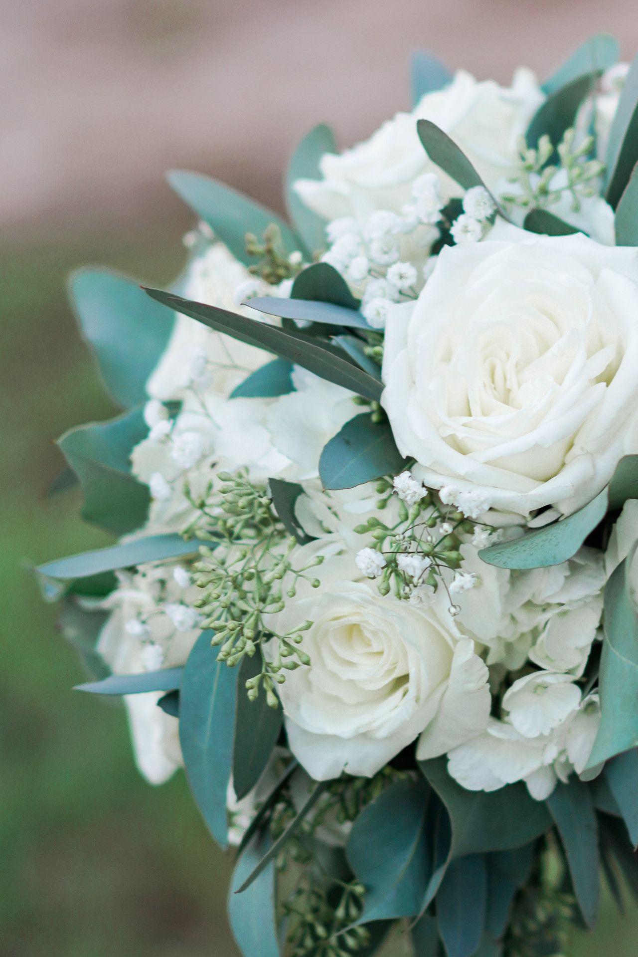 White Rose Bouquet White Winter Wedding Bouquet White Bouquet