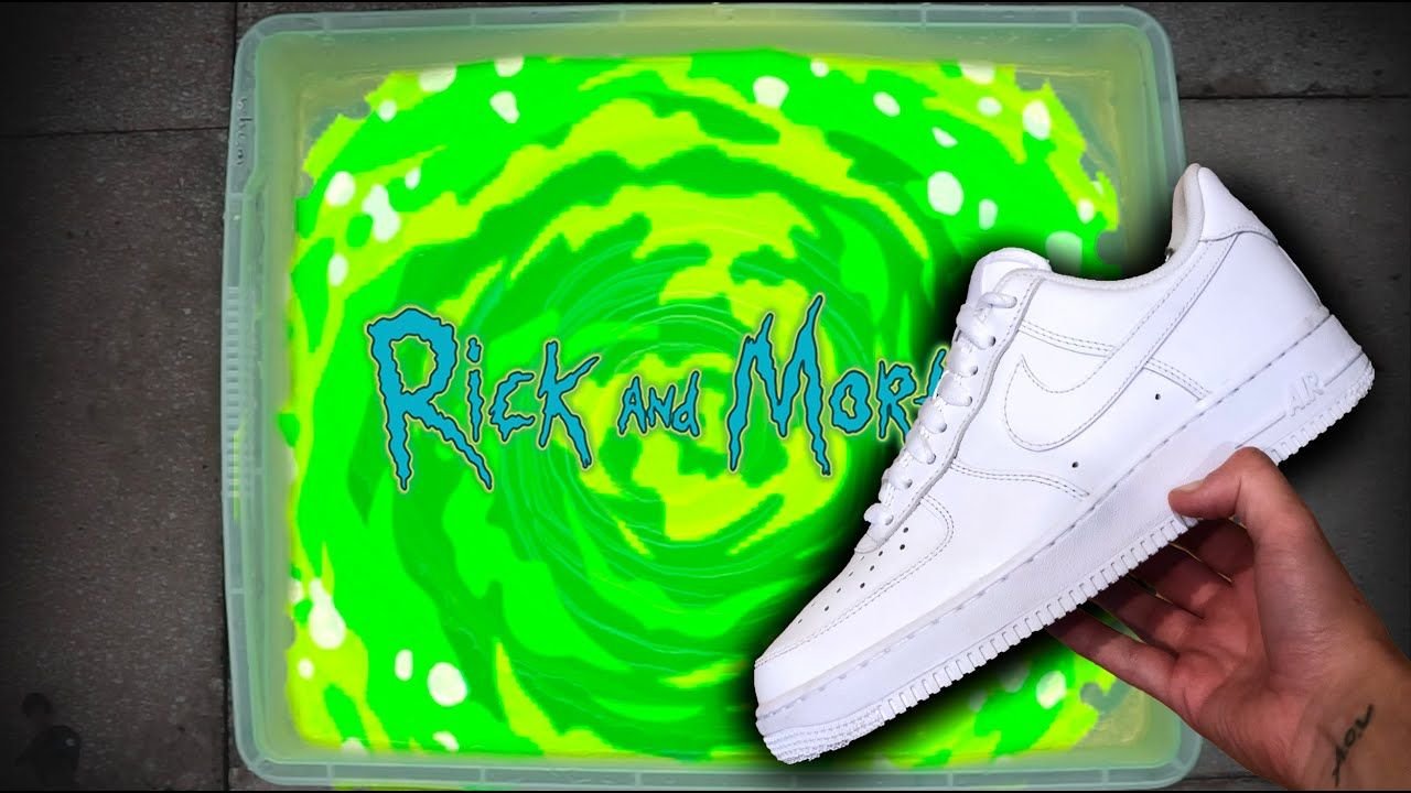'Rick and Morty' HYDRO DIP AIR FORCE 1 CUSTOM! Morty