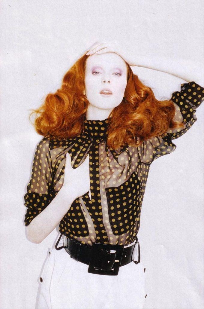 Karen Elson ph Juergen Teller for Yves Saint Laurent S/S 2005