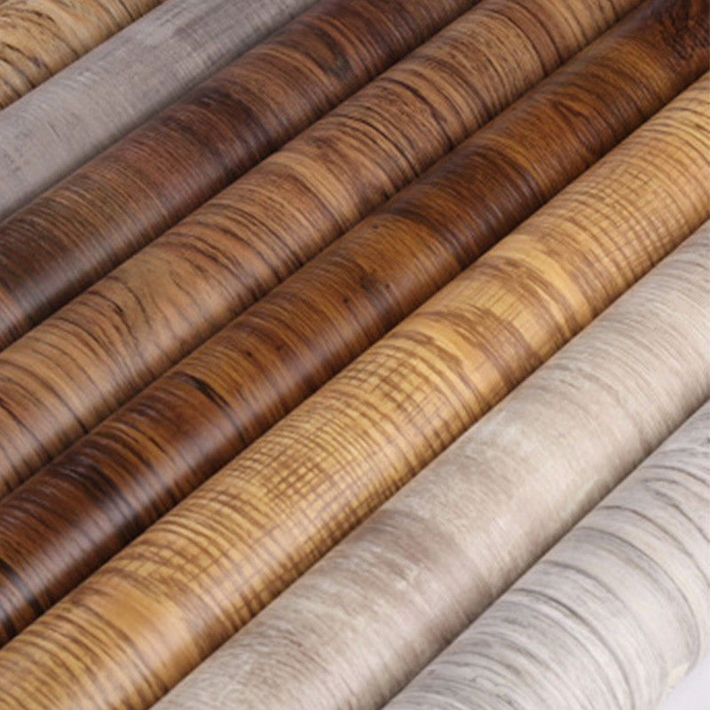 1m Pvc Waterproof Self Adhesive Wallpaper Furniture Cabinet Wood Grain Sticker Wallpaper Vintageretro Faux Wood Wall Wood Grain Wallpaper Wallpaper Furniture