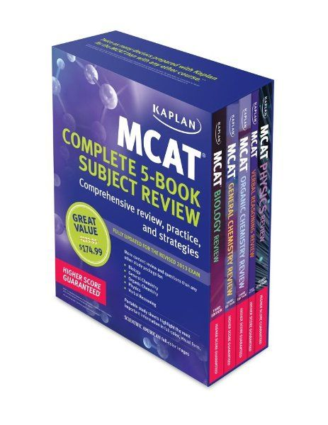 Kaplan MCAT Review Complete 5-Book Subject Review:Amazon:Books Study