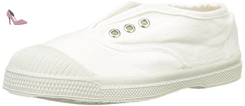 Bensimon Tennis Elly, Baskets Basses Mixte Enfant, Blanc (101 Blanc), 34