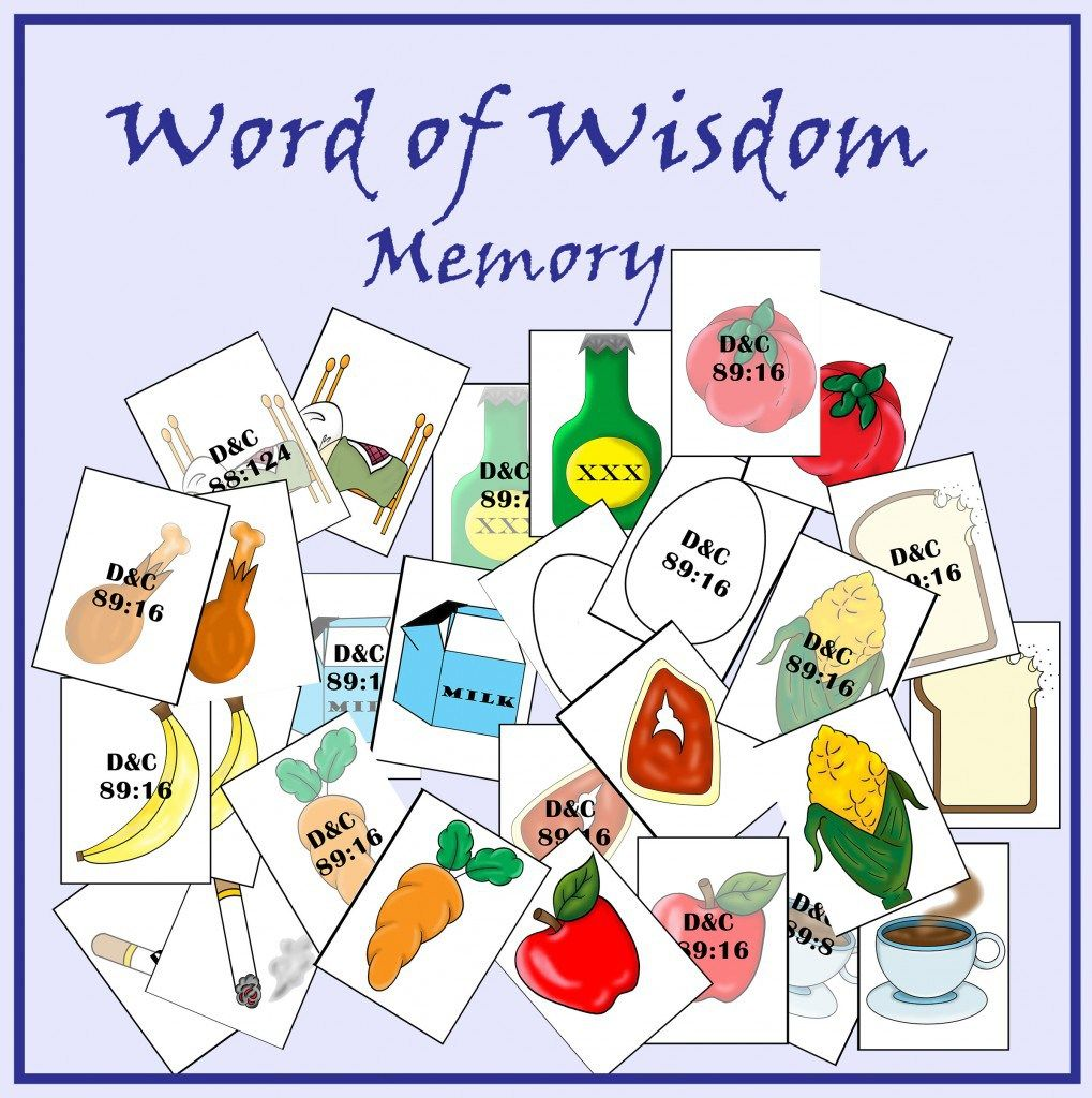 June Week 3: I obey the Word of Wisdom | Wisdom, June and Card stock