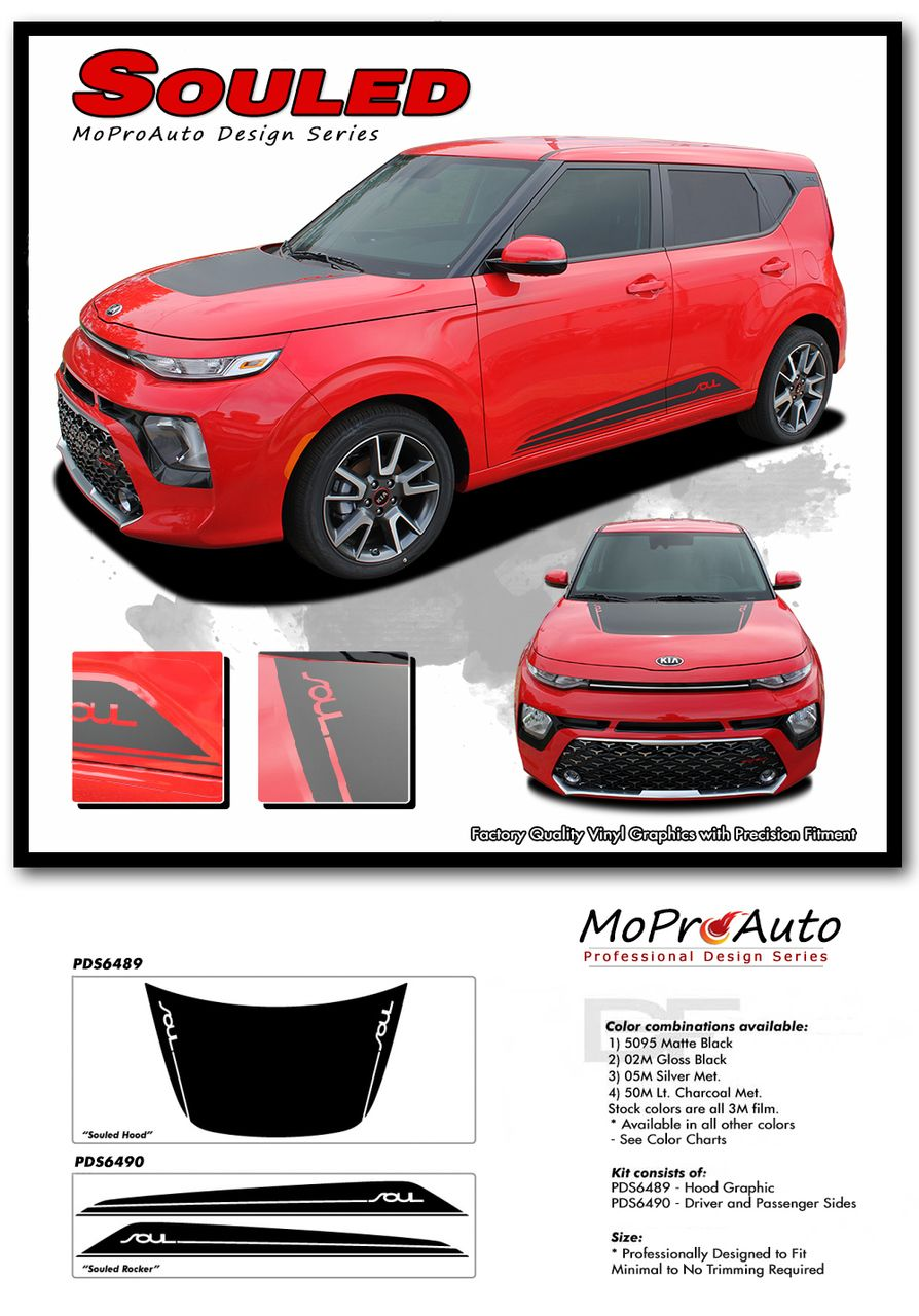 2020 Souled Kia Soul Hood Decals And Lower Rocker Panel Stripes Body Accent Vinyl Graphic Kit Fits 2020 Kia Soul Models In 2020 Kia Soul Kia Soul Accessories Kia