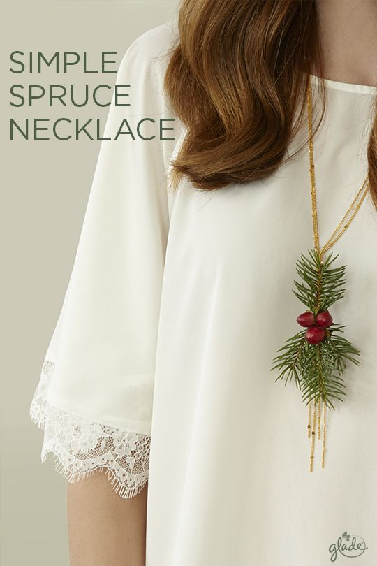 Spread instant joy to holiday guests by wearing a homemade spruce necklace! A jewelry chain and decorative winterberries are all you need to get started. Discover how to make this and all sorts of joyful, DIY crafts to help make the most of this holiday season.