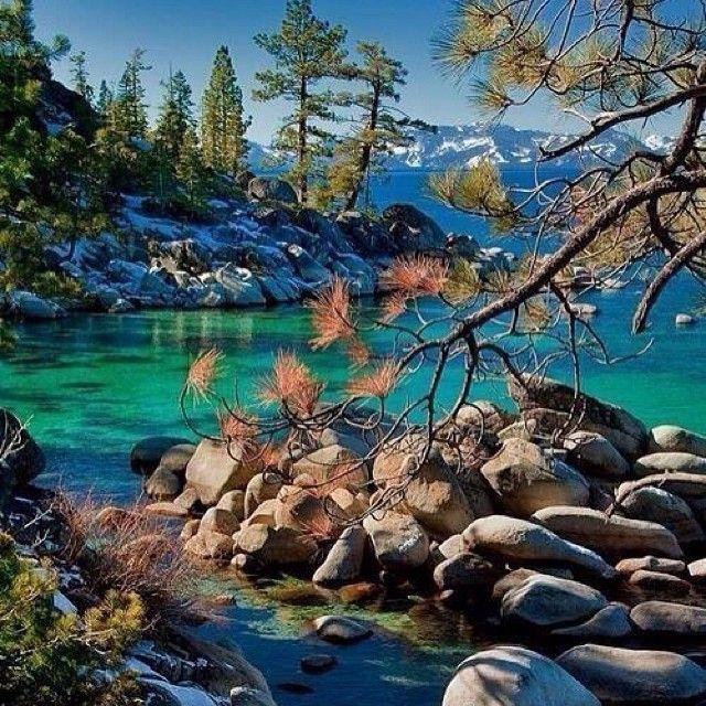 Lake Tahoe Vacation Rentals On The Water: #rocks #trees #lake #water #mountain #follow