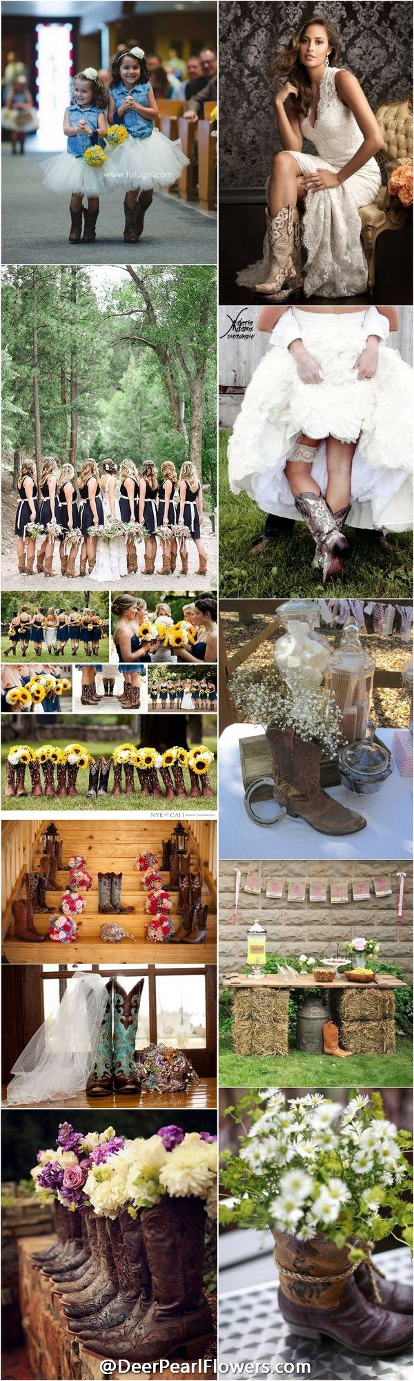Cowgirl Wedding Ideas Part - 17: rustic country cowboy cowgirl wedding ideas -  http:--www.deerpearlflowers.com