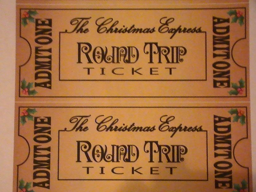polar express party Custom Polar Express Train Printable Ticket - Printable Event Tickets