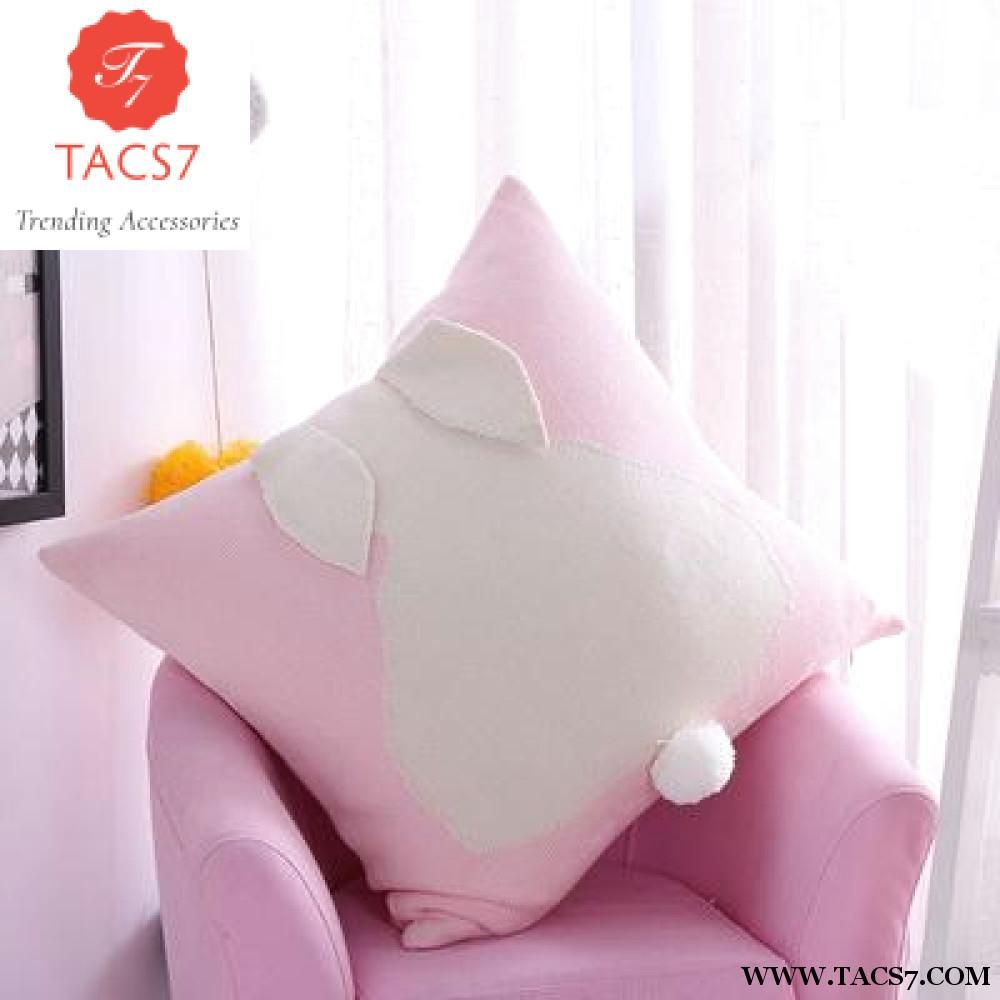 Cotton Knitted Cushion 3D Rabbit Pillow 45x45cm Square  88523a2948