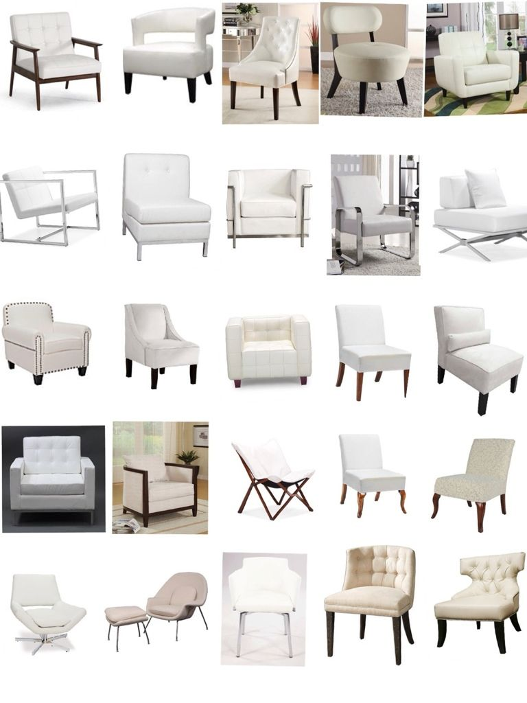 White Upholstered Chairs and Slipcovers www.UpholsterEase.com