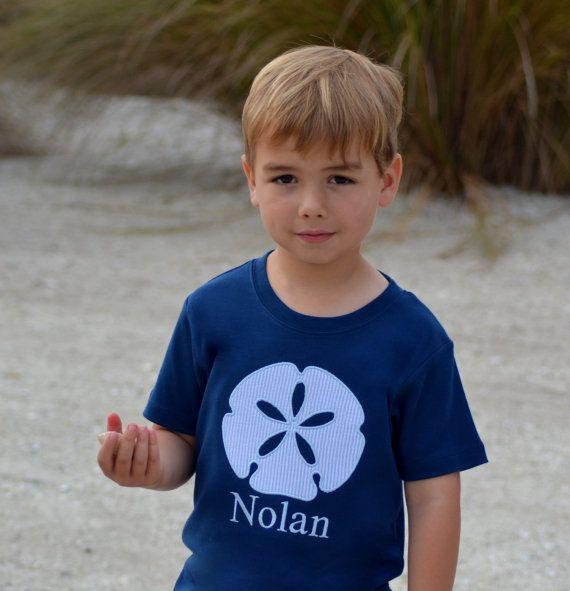 d295a628b Summer beach shirt boy beach shirt sand dollar by ClassicCityEmb ...