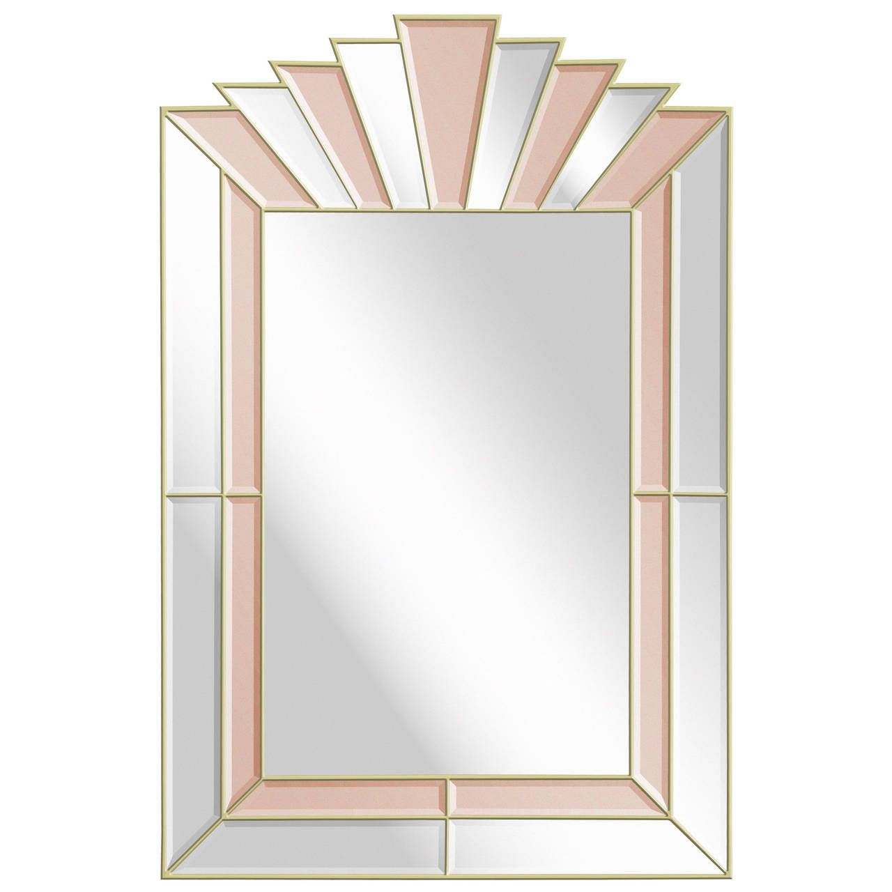 Art Deco Style Mirror 1stdibs Wall Mirror Style Clear Champagne Tinted Mirrored