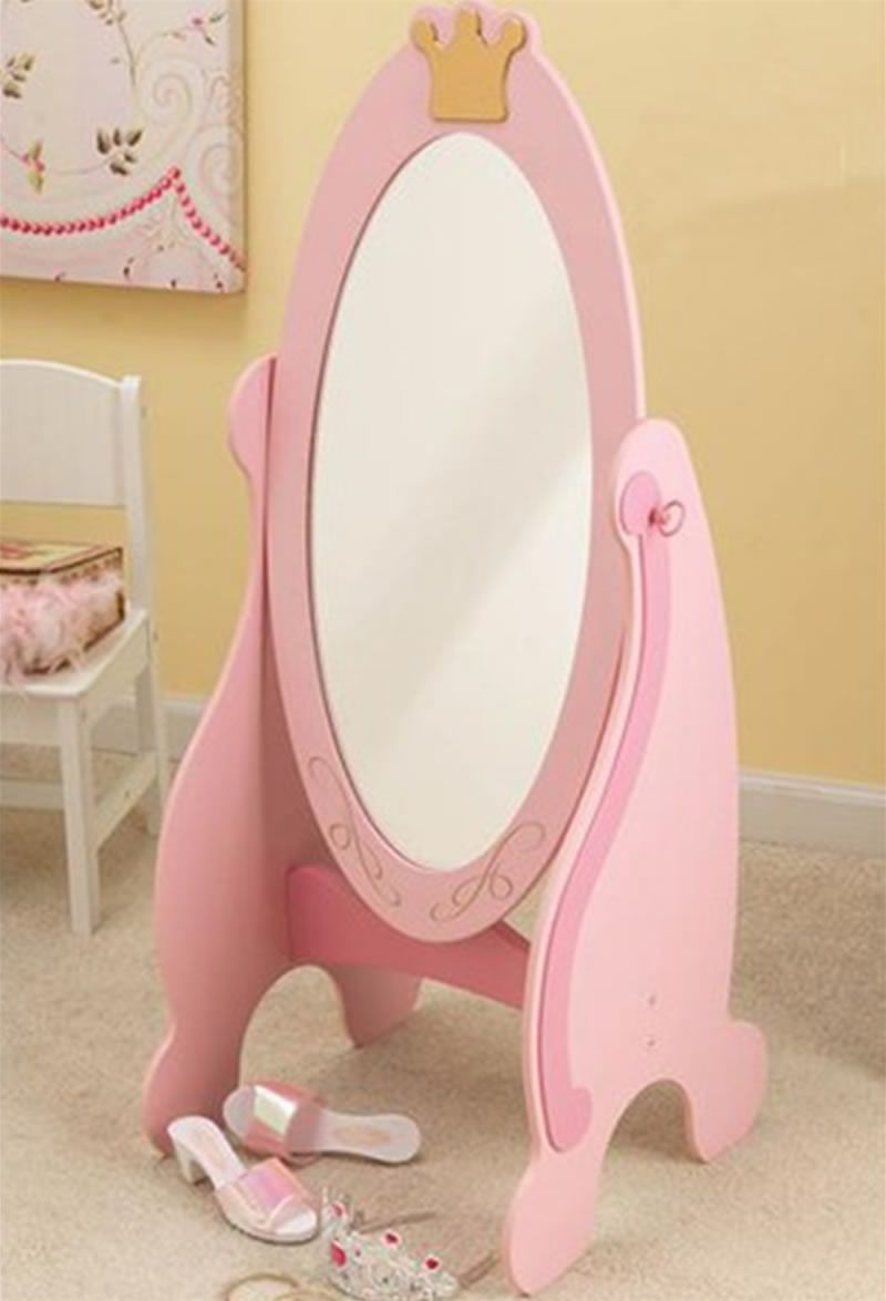 Fun And Stylish Little Girls Bedroom Furniture Design Princess Toddler Collection By KidKraft Mirror
